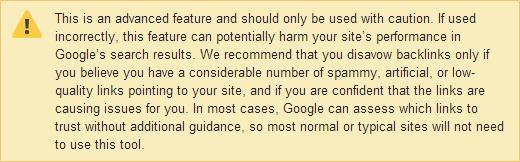 google-disavow-link-warning