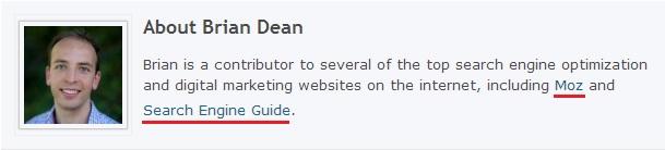 Brian Dean Author Bio